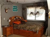 My sons redneck hunting bedroom with camo curtains ...