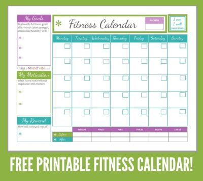 17 Best ideas about Workout Calendar Printable on ...
