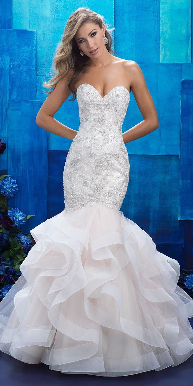 allure bridal mermaid dress wedding Allure Bridals Spring Wedding Dresses