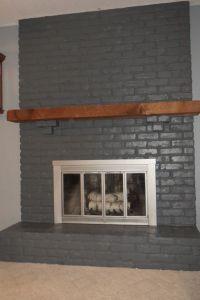 gray fireplace   Living Room   Pinterest   Gray ...