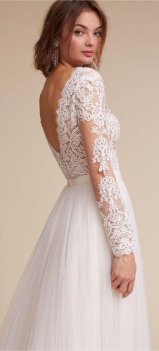lace wedding dresses wedding dresses with lace Long sleeve lace wedding dress by BHLDN