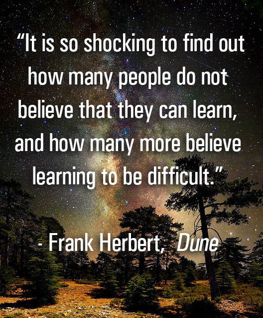 Dune Quote Wallpaper Frank Herbert S Quote On Learning From Dune Dune Scifi