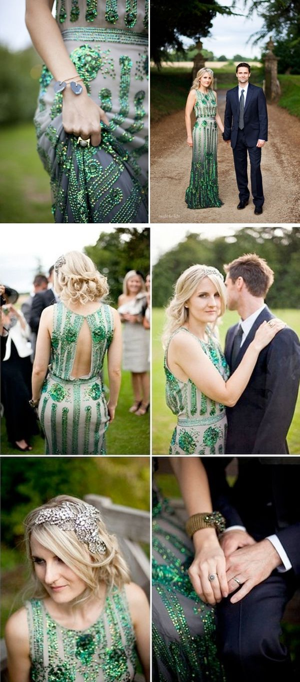 emerald wedding dresses emerald wedding dress Coloured Wedding Dresses Inspiration For the Bride Who Doesn t Want To Wear White