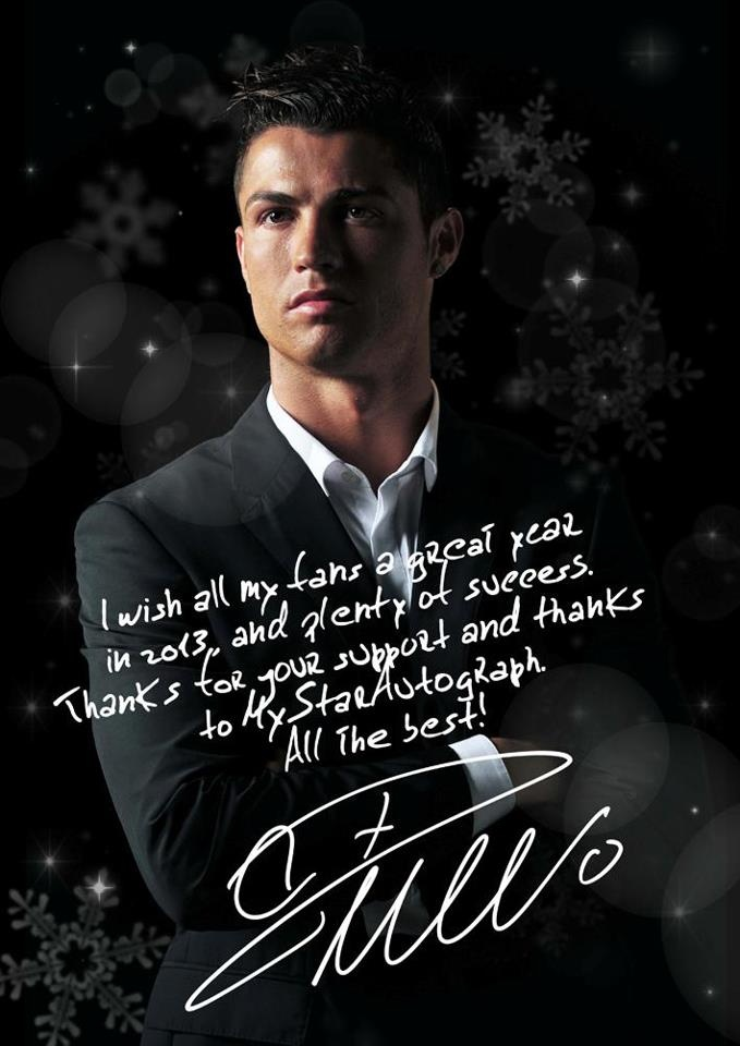 Facebook Wallpaper Quotes From Soccer Players Cr7 Signing An Exclusive Nye Photo For Mystarautograph 180 S