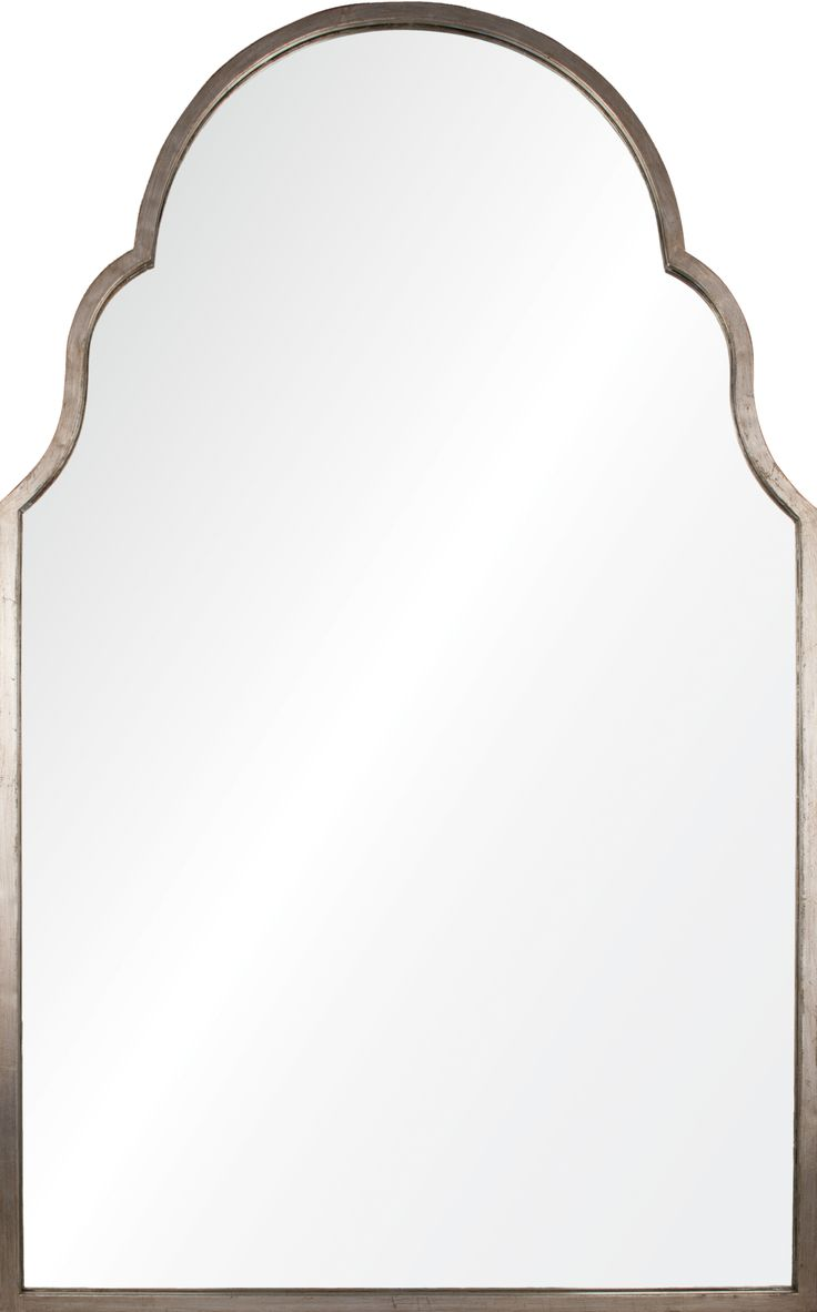 Williams sonoma home five panel beveled mirror simple arched mirror framed with antiqued silver leaf