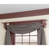 Shelf above window doubles as a curtain rod. | Colonial ...