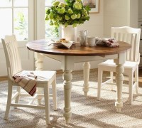 Pottery Barn Keaton Round Fixed Dining Table - French ...