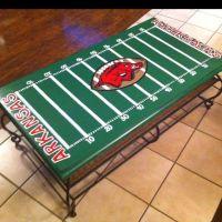 Arkansas Razorback Football field coffee table | painted ...