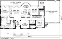 Ranch House Plan 73152   House plans, Nooks and Breakfast ...