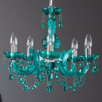 Teal chandelier for Paris themed kitchen | For the Home ...
