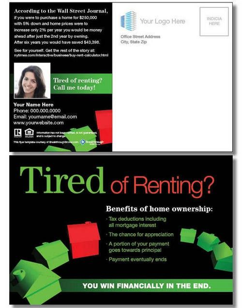 "Salon Post Bac ""tired Of Renting?"" Postcard 
