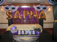 www.Total-Party.com created this stage decor with 4 fabric ...