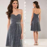 Images For > Short Dark Grey Bridesmaid Dresses | Styles I ...
