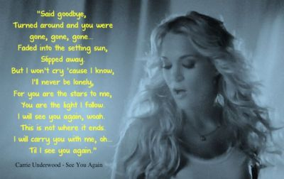Carrie Underwood - See You Again   Music I Love   Pinterest   You again, See you again and See you