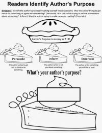 17 Best images about Authors purpose on Pinterest ...