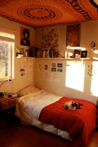 Love the shelves and ceiling tapestry | Room Inspiration ...