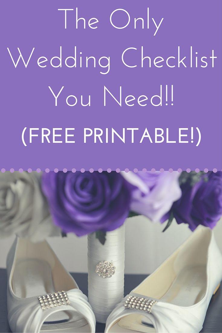 printable wedding planner checklist