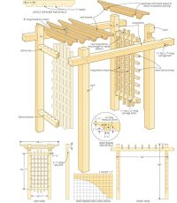 Lattice Arbor Plans - WoodWorking Projects & Plans