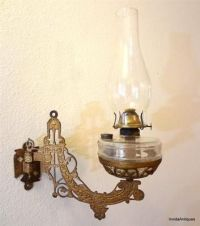 Antique Victorian Hanging Cast Iron Eagle Oil Lamp Holder ...