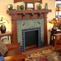 Modern Bungalow Fireplace | Craftsman mantle and fireplace ...