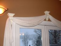 25+ best ideas about Scarf valance on Pinterest