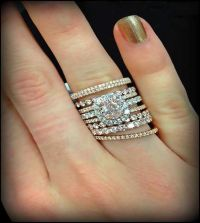 1000+ ideas about Stacked Wedding Rings on Pinterest ...