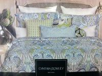 6 PC New Cynthia Rowley Queen Paisley Floral Comforter Set ...