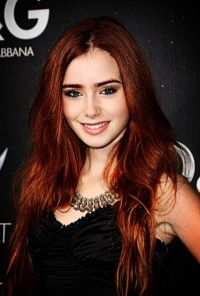 Lily Collins Hair Color Red | www.imgkid.com - The Image ...