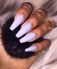 Purple Matte Coffin Nails | ~PRETTY FINGERS & PRETTY TOES ...