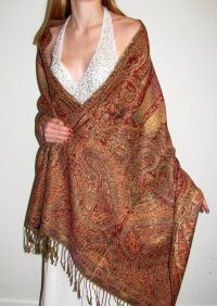 Beautiful scarves add elegance to your evening dress/gown ...