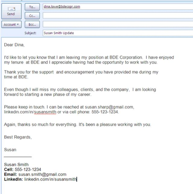 Farewell Letter Sample At Work  Samples Of Curriculum Vitae For