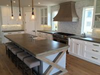 Big Kitchen Island, French Country Concrete Countertops