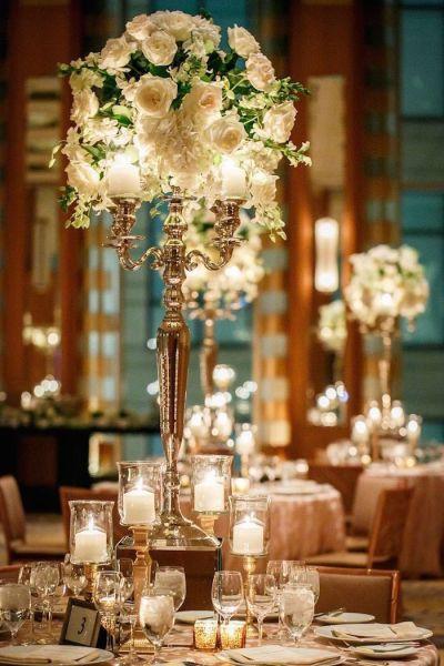 25+ best Romantic Wedding Centerpieces ideas on Pinterest ...