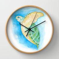 Green Sea Turtle Wall Clock | Turtles, Wall clocks and Green