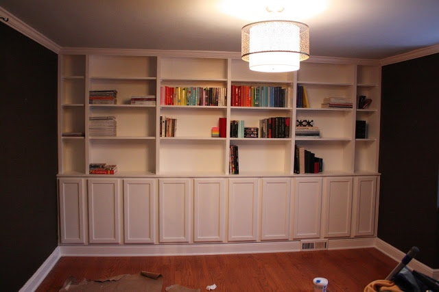Built In Bookcases They Used Pre Fab Cabinets For The