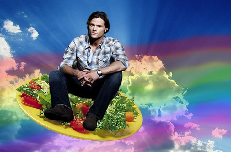 Supernatural Wallpaper Dean Quotes Sam Salad Supernatural Funny There S Something Wrong