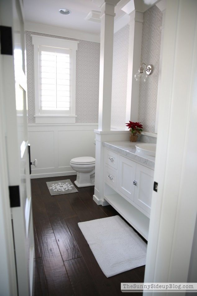 Dark Floors White Cabinets 569 Best Images About Blissful Bathroom Ideas On Pinterest