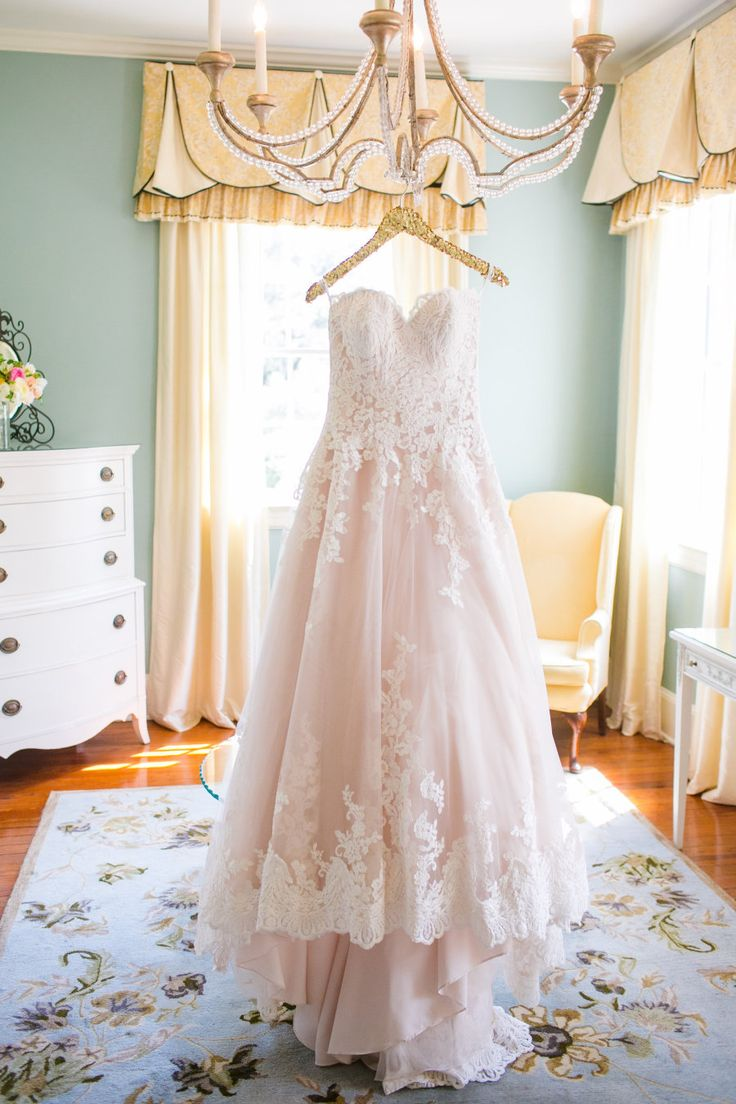 blush wedding dresses wedding dressing Blush lace wedding dress Photography Dana Cubbage Weddings danacubbageweddings com