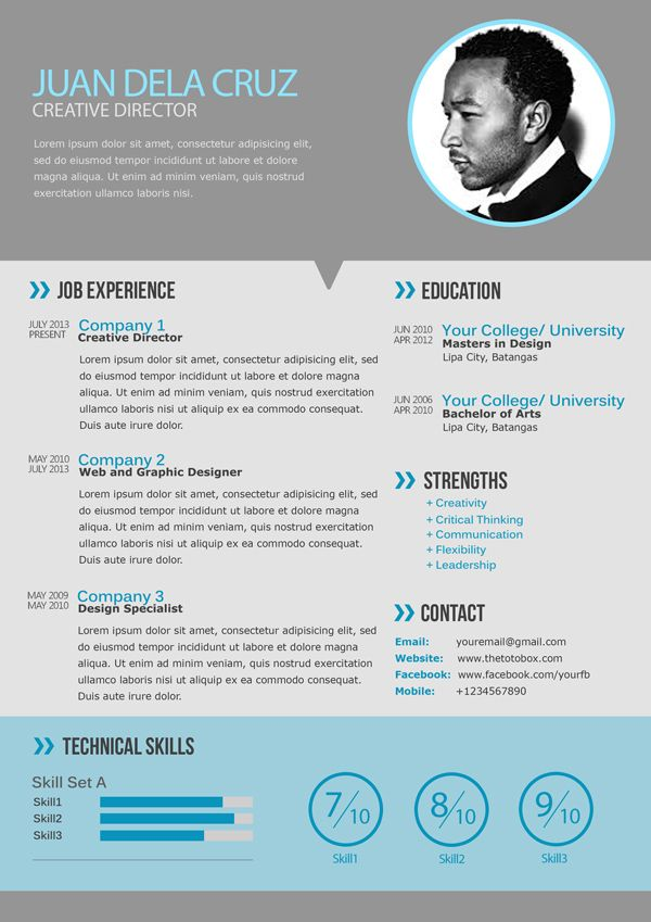Modern Cv Resume Templates With Cover Letter Design 25 Best Images About Modern Cv On Pinterest