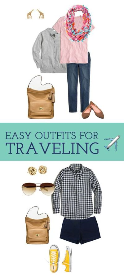 Easy outfits to put together and pack that are also comfortable to wear on your travels! # ...