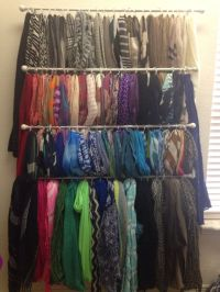 Scarf organization | Walk in closet | Pinterest | The o ...