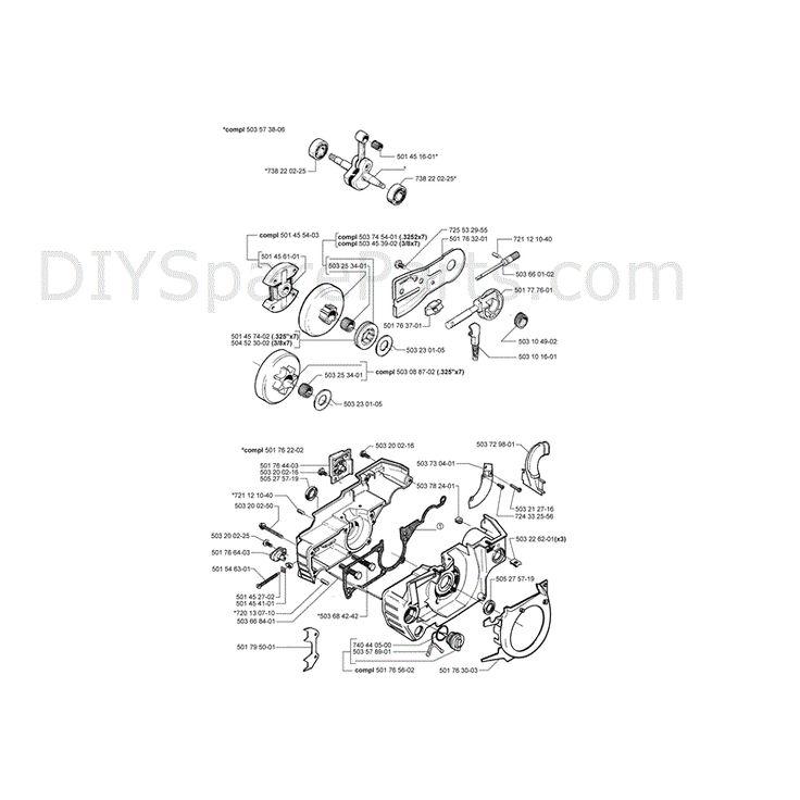 husqvarna 51 chainsaw 2000 parts diagram page 6