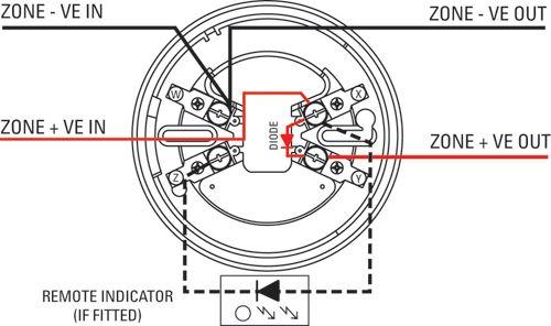 smoke detector wiring schematic