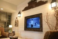 GAH! Barnwood frame for a wall mounted TV. AWESOME. | TV ...