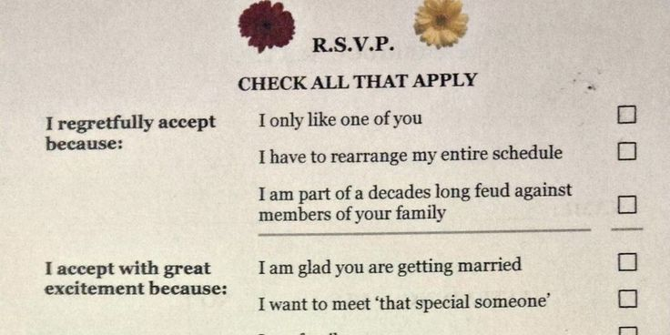 wording for wedding rsvp card