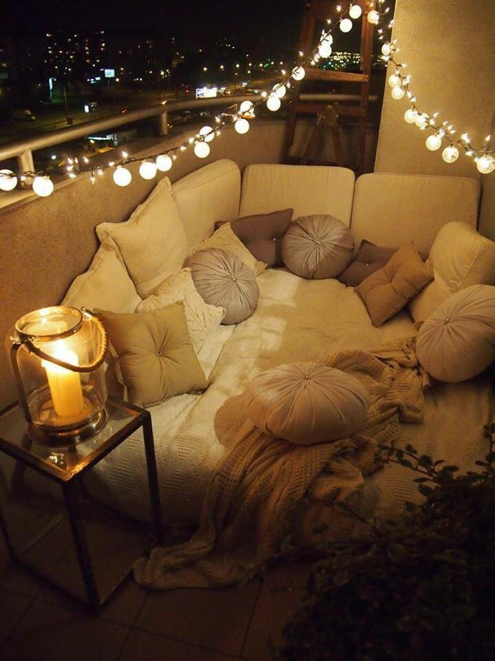 Sectional Couches Comfy & Romantic Balcony | Terrace&garden | Pinterest