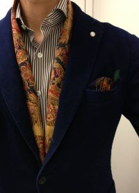 81 best Patterned Silk Scarves for Men images on Pinterest