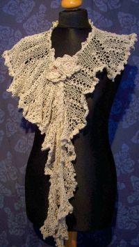 Lace scarf, wedding shawl, knit scarf,victorian shawl ...