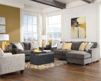 Ashley Hodan Marble Gray Sofa Chaise Loveseat Chair Living ...