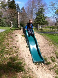 Awesome slide built into a hill!